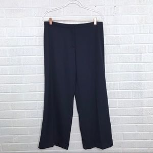 Tory Burch Flat Front Culotte Pants Navy Blue 10